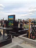 Памятник с фото в стекле №10