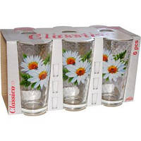 """Набор стаканов Классик -6шт-230гр,Цветы подар. упак.""""HL"""" быт"""
