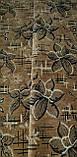 Тканина для оббивки меблів Шпігель Квітка корич., фото 2