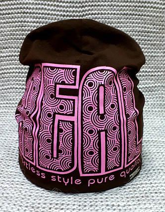 Шапка на девочку весна коричневая Davids Star (Украина) размер 48 50, фото 2