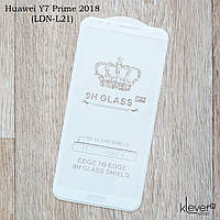 Защитное стекло для Huawei Y7 Prime 2018 (LND-L21), Full Glue