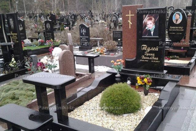 Одинарное надгробие с цветным фото № 24