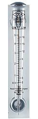Ротаметр для води (2-18 л/хв) панельний (витратомір) FM 05