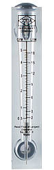 Ротаметр для воды (2-18 л/мин) панельный (расходомер)  FM 05