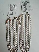 Мужская цепь Панцирь 925 пробы массивная (панцирное плетение)
