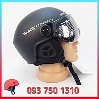 Горнолыжный шлем с визором / очками 58-61 см Black Crevice Ski Helmet