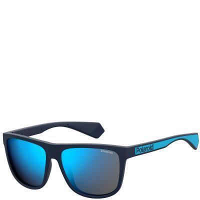 Солнцезащитные очки Polaroid Очки мужские в гибкой оправе с поляризационными  ультралегкими зеркальными линзами POLAROID (ПОЛАРОИД ccd9f311910c4