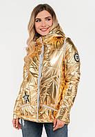 Модна жіноча демісезонна куртка Modniy Oazis золото 90280/1, фото 1