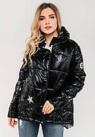 Модная женская демисезонная куртка Modniy Oazis черная 90280/2, фото 1