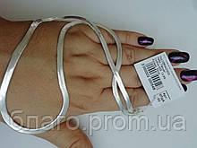 Серебряная цепочка плетение Змея женская