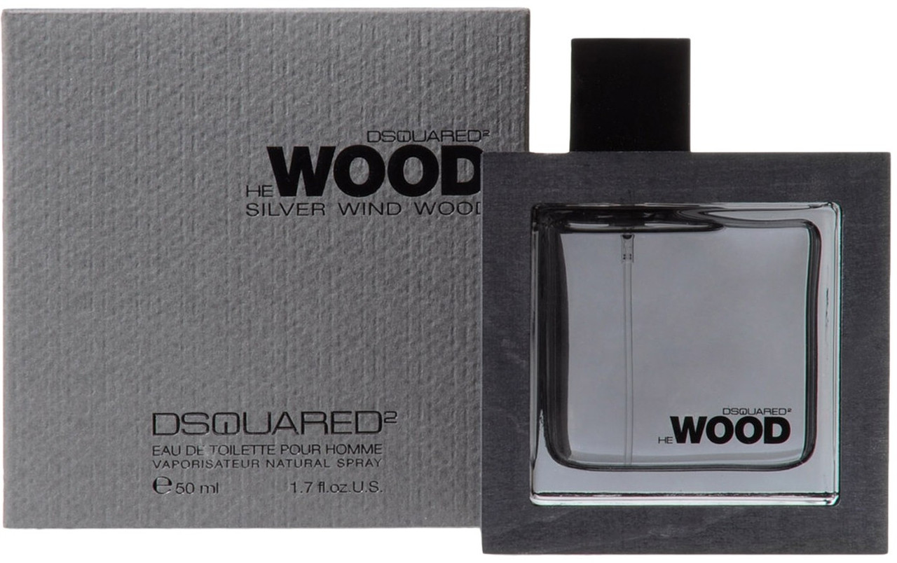 Мужская туалетная вода Dsquared2 Silver Wind Wood edt 100 ml реплика