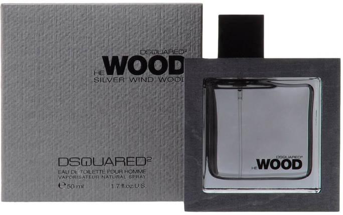 Мужская туалетная вода Dsquared2 Silver Wind Wood edt 100 ml реплика, фото 2