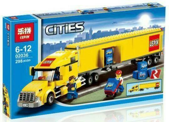 "Конструктор Lepin 02036 ""Грузовик"" (аналог Lego City 3221) 298 деталей"