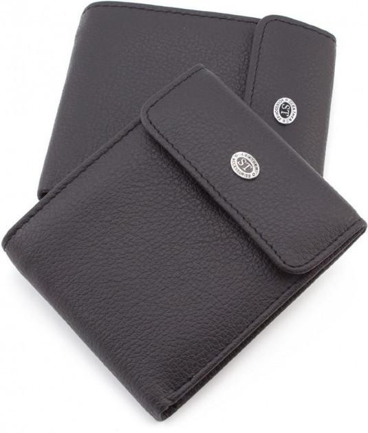 Классический  мужской портмоне из натуральной кожи черный цвета Sergio Torretti (ST Leather) ST155 Coffee