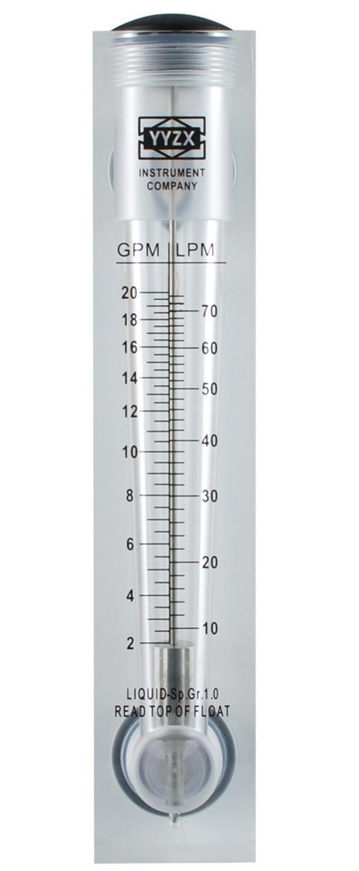 Ротаметр для воды FM 20 (10 -70 л/мин) панельный
