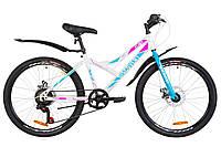 """Гірничо-підлітковий велосипед DISCOVERY FLINT DD 24""""(біло-блакитний з рожевим), фото 1"""