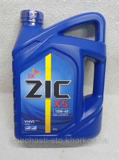 Масло 10W40 полусинтетика ZIC X5 4л