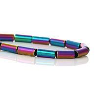 Бусина, (Сорт А) Природный Гематит, Цилиндр, Цвет: Разноцветный, 9 мм x 3 мм, 1 мм