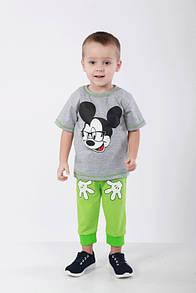 Дитячий комплект Міккі Маус для хлопчика футболка+бриджі кулір