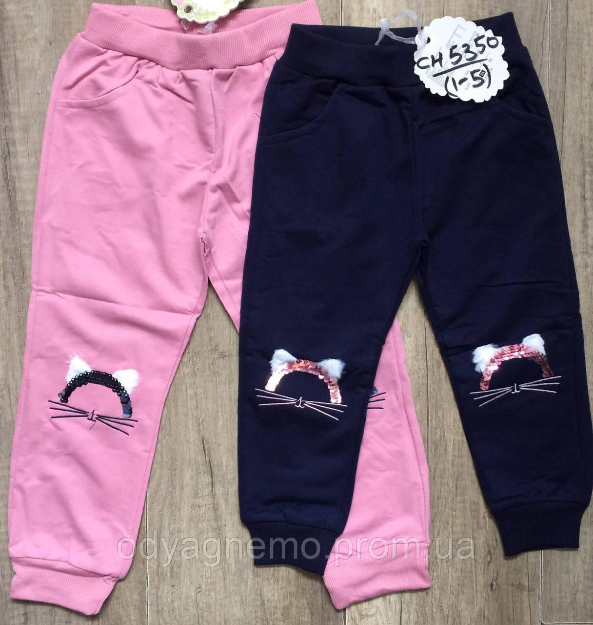 Спортивные брюки для девочек S&D оптом, 1-5 лет.