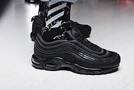 """Кроссовки мужские Nike TN Air Max 97 """"Triple Black"""" / BV0321-003 (Реплика)"""