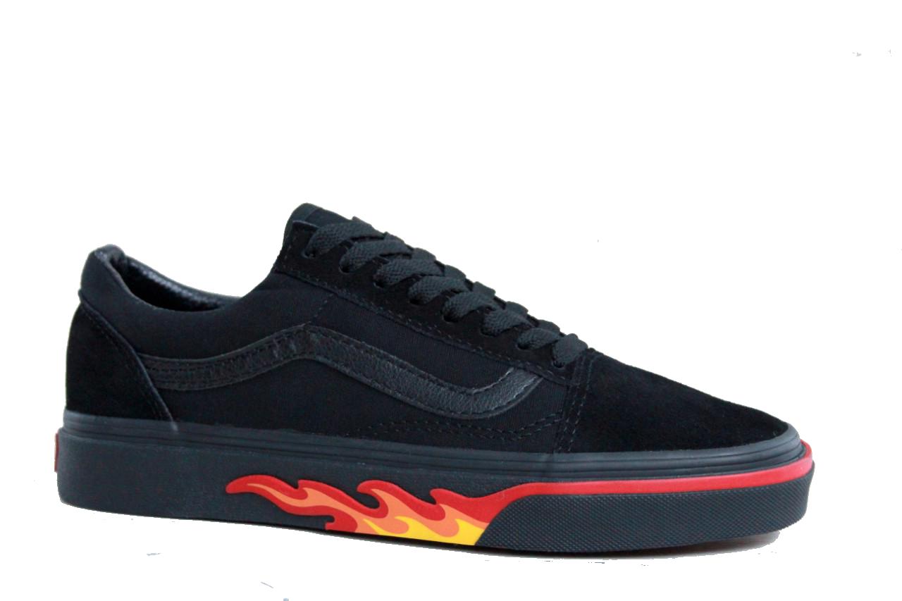 Кеды Vans Old Skool Fire Black (Черные