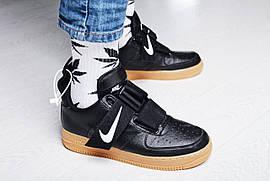 "Кроссовки мужские Nike Air Force 1 Utility ""Black Gum"" / AO1531-002 (Реплика)"