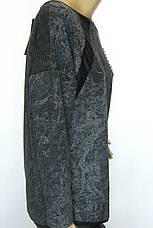 Жіночий реглан з принтом із стразів розмір оверсайз , фото 3