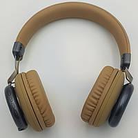 Коричневые беспроводные наушники с микрофоном Bluetooth гарнитура с MP3 FOKS SY-BT1616