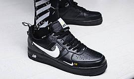 "Кроссовки мужские Nike Air Force 1 '07 LV8 Utility ""Black"" / AJ7747-001 (Реплика)"