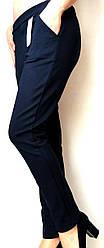 Брюки  трикотажные темно-синие размер 44,46