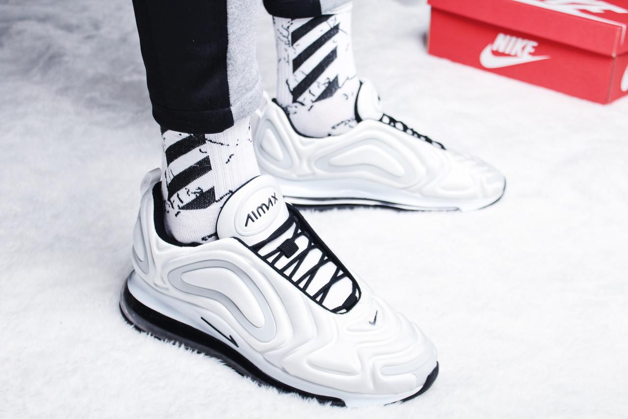 "Кроссовки мужские Nike Air Max 720 ""Carbone-White/Black"" / AR9293-100 (Реплика)"