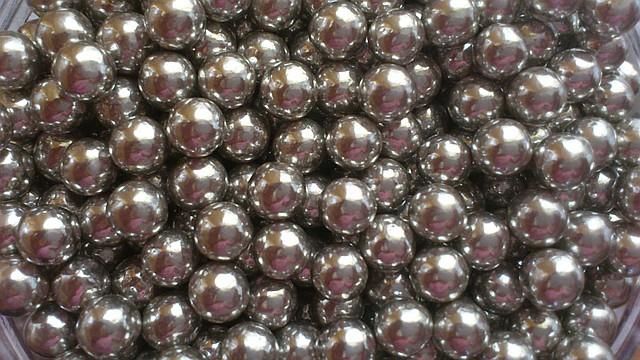 Посипка Шарики серебряные большие 7мм 10г.(код 02184)