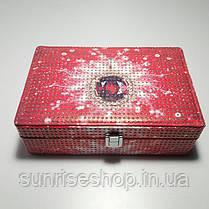 Шкатулка для украшений кожзаменитель купить оптом и в розницу, фото 2