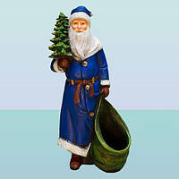 Оригинальная большая копилка для денег Дед Мороз с елкой