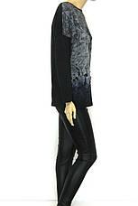 Жіночий реглан з принтом  розмір оверсайз , фото 2