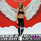 Костюм спортивный топ и лосины для занятий фитнесом с вставками сетки, фото 3