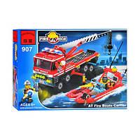 Детский конструктор BRICK 907  Пожарная  тревога, 420 дет