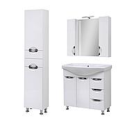 Комплект мебели для ванной комнаты Оскар 85 Т-17 с зеркалом Юввис