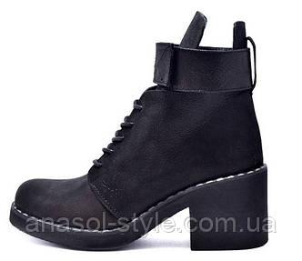 Ботинки женские кожаные VIKTTORIO ANABEL антрацит
