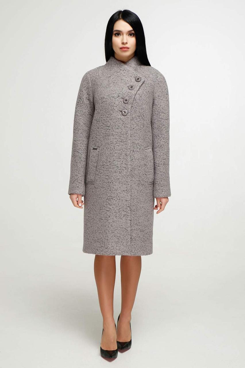 Стильное пальто В-1142 W09+BND Тон 48