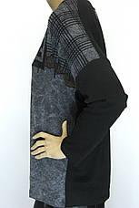 Трикотажний реглан з принтом із стразів розмір оверсайз , фото 2