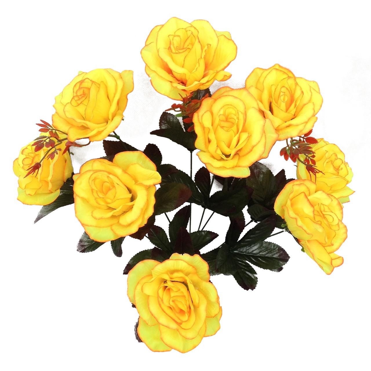 Букет искусственной  розы, 58 см (20 шт. в уп)