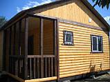 Дачний будинок 6м х 6м з блокхаус з терасою, фото 2
