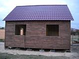 Дачний будинок 6м х 6м з блокхаус з терасою, фото 4