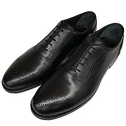 Мужские кожаные туфли оксфорды Rifellini черного цвета SH0003
