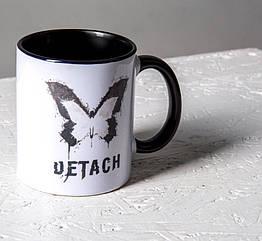 Бело-черная чашка Detach
