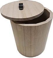 Шкатулка деревянная круглая диаметр 12 см, высота 15 см, Knorr Prandell, 218735421