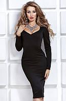 Платье женское елегантное  футляр карандаш рукав длинное купить 42 44 46 48 50 Р