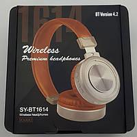 Bluetooth наушники SY-BT1614 беспроводная гарнитура коричневые наушники